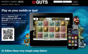 Guts Mobile Casino Screenshot
